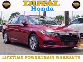 2018 Radiant Red Metallic Honda Accord LX FWD I4 DOHC 16V Turbocharged Engine Sedan 4 Door