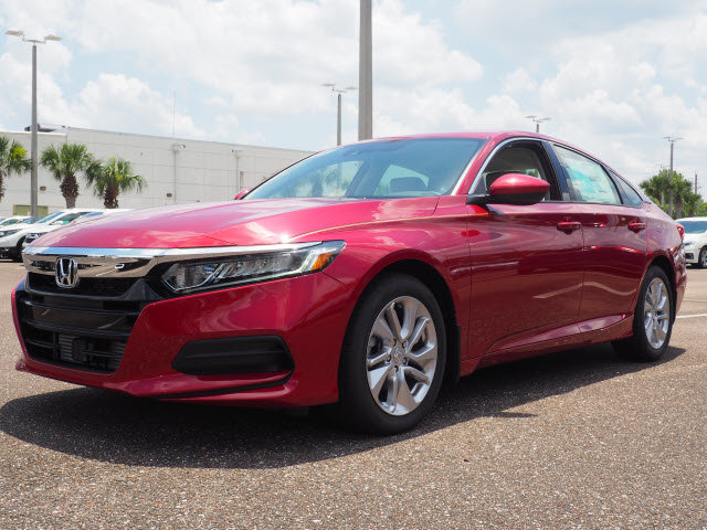 2018 Radiant Red Metallic Honda Accord LX Sedan 4 Door I4 DOHC 16V Turbocharged Engine Automatic (CVT)