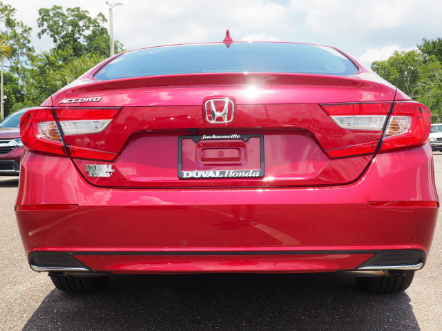 2018 Radiant Red Metallic Honda Accord LX Sedan 4 Door I4 DOHC 16V Turbocharged Engine FWD