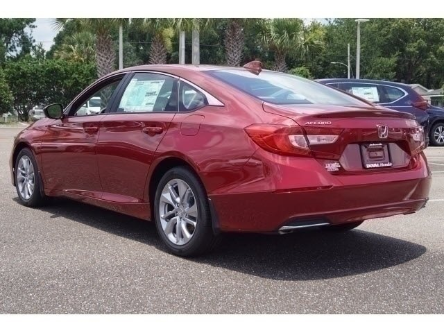 2018 Radiant Red Metallic Honda Accord LX FWD Automatic (CVT) Sedan I4 DOHC 16V Turbocharged Engine 4 Door