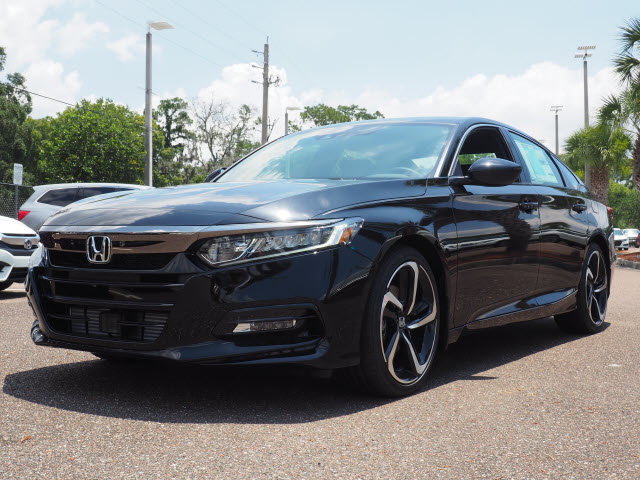 2018 Crystal Black Pearl Honda Accord Sport Automatic (CVT) I4 DOHC 16V Turbocharged Engine Sedan FWD 4 Door
