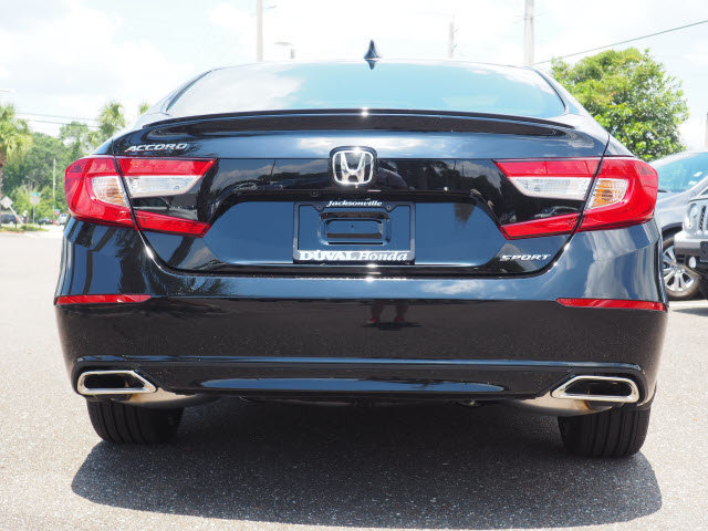 2018 Crystal Black Pearl Honda Accord Sport FWD I4 DOHC 16V Turbocharged Engine Sedan