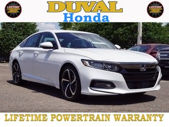 2018 Still Night Pearl Honda Accord Sport I4 DOHC 16V Turbocharged Engine Sedan 4 Door Automatic (CVT)