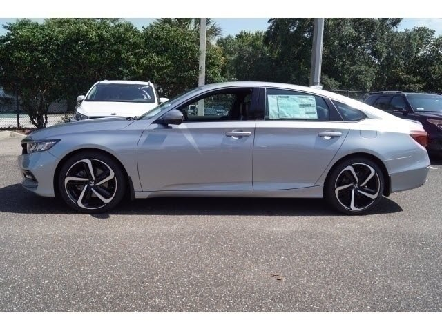 2018 Lunar Silver Metallic Honda Accord Sport Automatic (CVT) 4 Door I4 DOHC 16V Turbocharged Engine Sedan FWD