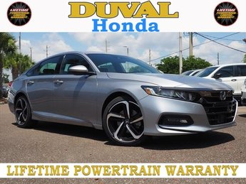 2018 Lunar Silver Metallic Honda Accord Sport 4 Door Sedan I4 DOHC 16V Turbocharged Engine FWD Automatic (CVT)