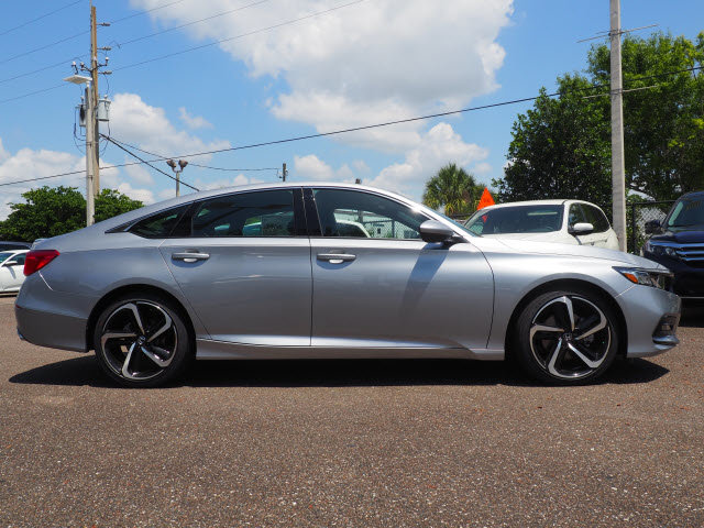 2018 Lunar Silver Metallic Honda Accord Sport Automatic (CVT) FWD 4 Door I4 DOHC 16V Turbocharged Engine