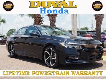 2018 Crystal Black Pearl Honda Accord Sport FWD Sedan Automatic (CVT) I4 DOHC 16V Turbocharged Engine