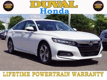 2018 Platinum White Pearl Honda Accord EX-L Automatic (CVT) Sedan I4 DOHC 16V Turbocharged Engine FWD