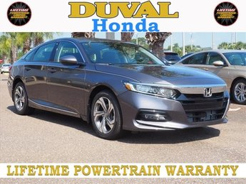 2018 Modern Steel Metallic Honda Accord EX-L I4 DOHC 16V Turbocharged Engine Automatic (CVT) Sedan FWD