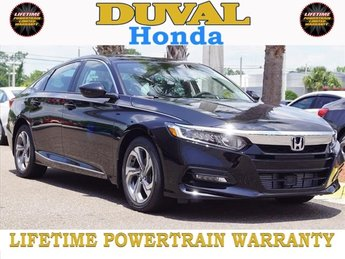 2018 Crystal Black Pearl Honda Accord EX-L I4 DOHC 16V Turbocharged Engine FWD 4 Door Sedan Automatic (CVT)