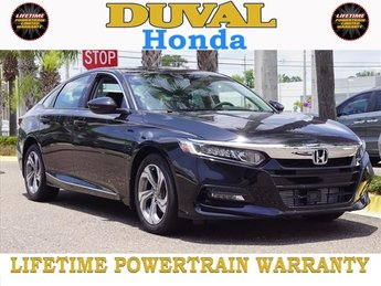 2018 Crystal Black Pearl Honda Accord EX-L 4 Door Automatic (CVT) Sedan I4 DOHC 16V Turbocharged Engine FWD