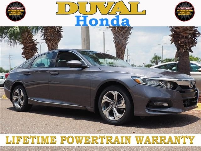 2018 Modern Steel Metallic Honda Accord EX-L Sedan Automatic (CVT) FWD I4 DOHC 16V Turbocharged Engine 4 Door
