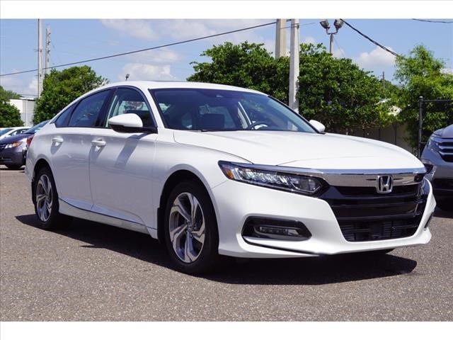 2018 Platinum White Honda Accord EX-L 4 Door I4 DOHC 16V Turbocharged Engine Sedan FWD