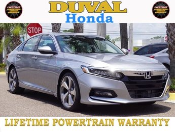 2018 Lunar Silver Metallic Honda Accord Touring I4 DOHC 16V Turbocharged Engine 4 Door Sedan Automatic (CVT)