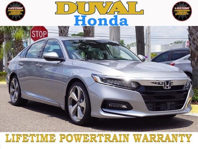 2018 Lunar Silver Metallic Honda Accord Touring 4 Door I4 DOHC 16V Turbocharged Engine FWD