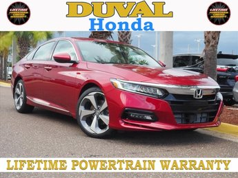 2018 Radiant Red Metallic Honda Accord Touring Automatic (CVT) Sedan FWD 4 Door I4 DOHC 16V Turbocharged Engine