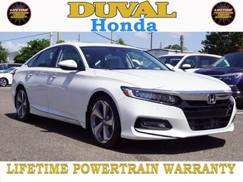 2018 Honda Accord Touring I4 DOHC 16V Turbocharged Engine Automatic (CVT) 4 Door Sedan FWD