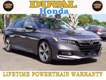 2018 Modern Steel Metallic Honda Accord Touring Automatic (CVT) I4 DOHC 16V Turbocharged Engine Sedan 4 Door