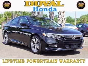 2018 Crystal Black Pearl Honda Accord Touring FWD Sedan I4 DOHC 16V Turbocharged Engine Automatic (CVT)