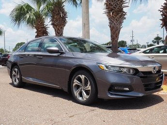 2018 Modern Steel Honda Accord EX-L 2.0T Sedan I4 DOHC 16V Turbocharged Engine FWD