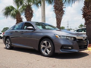 2018 Modern Steel Honda Accord EX-L 2.0T Automatic I4 DOHC 16V Turbocharged Engine Sedan FWD