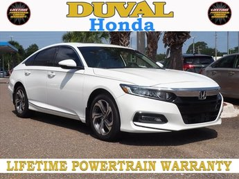 2018 Platinum White Pearl Honda Accord EX-L 2.0T FWD Automatic Sedan 4 Door I4 DOHC 16V Turbocharged Engine