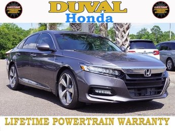 2018 Modern Steel Metallic Honda Accord Touring 2.0T FWD 4 Door Sedan