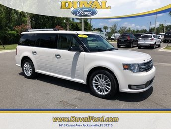 2015 White Ford Flex SEL 3.5L V6 Ti-VCT Engine Automatic FWD SUV 4 Door