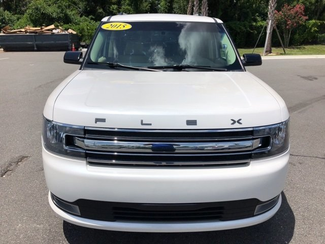 2015 White Ford Flex SEL SUV 3.5L V6 Ti-VCT Engine FWD Automatic 4 Door