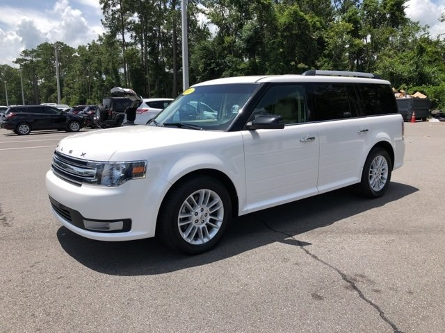 2015 White Ford Flex SEL 4 Door SUV Automatic FWD