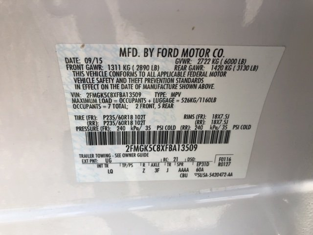 2015 Ford Flex SEL 4 Door SUV FWD 3.5L V6 Ti-VCT Engine