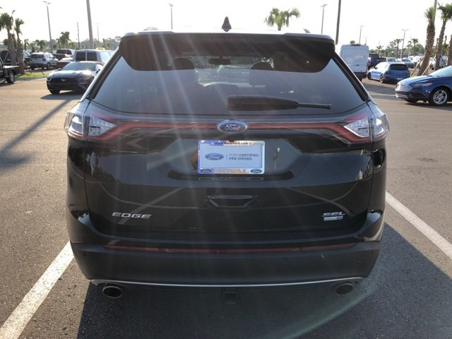 2017 Shadow Black Ford Edge SEL AWD SUV EcoBoost 2.0L I4 GTDi DOHC Turbocharged VCT Engine