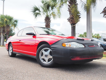 2002 Bright Red Chevrolet Monte Carlo LS Coupe 2 Door Automatic FWD 3.4L V6 SFI Engine
