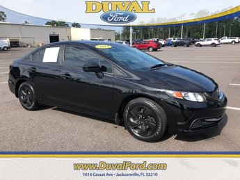 2014 Black Honda Civic LX Automatic (CVT) FWD Sedan 4 Door 1.8L I4 SOHC 16V i-VTEC Engine