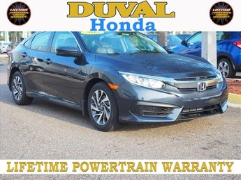 2018 Honda Civic EX FWD Sedan 2.0L I4 DOHC 16V i-VTEC Engine Automatic (CVT) 4 Door