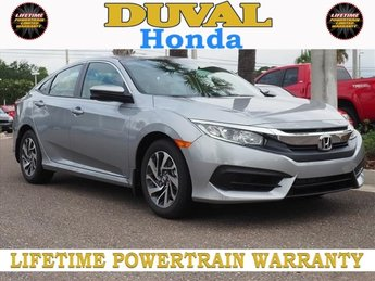 2018 Lunar Silver Metallic Honda Civic EX Sedan FWD 4 Door 2.0L I4 DOHC 16V i-VTEC Engine