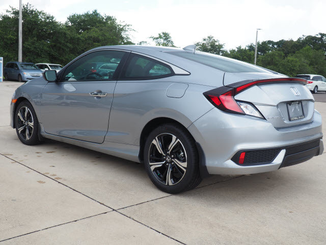 2018 Lunar Silver Metallic Honda Civic Touring Automatic (CVT) 2 Door 1.5L I-4 DI DOHC Turbocharged Engine Coupe