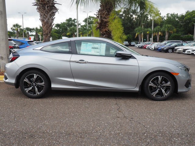 2018 Honda Civic Touring FWD Automatic (CVT) 1.5L I-4 DI DOHC Turbocharged Engine Coupe 2 Door