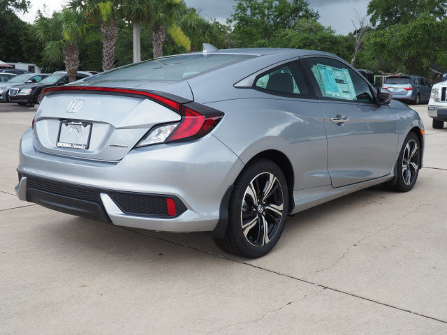 2018 Lunar Silver Metallic Honda Civic Touring FWD Automatic (CVT) 2 Door 1.5L I-4 DI DOHC Turbocharged Engine Coupe