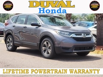 2018 Modern Steel Metallic Honda CR-V LX 4 Door SUV FWD Automatic (CVT) 2.4L I4 DOHC 16V i-VTEC Engine
