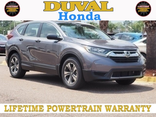 2018 Modern Steel Metallic Honda CR-V LX FWD Automatic (CVT) 4 Door SUV 2.4L I4 DOHC 16V i-VTEC Engine