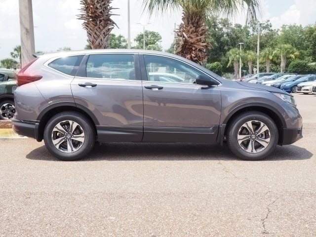 2018 Modern Steel Metallic Honda CR-V LX FWD SUV 2.4L I4 DOHC 16V i-VTEC Engine 4 Door Automatic (CVT)