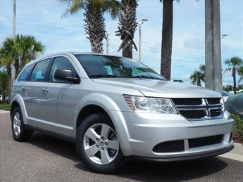 2013 Bright Silver Metallic Dodge Journey American Value Pkg 4 Door SUV Automatic
