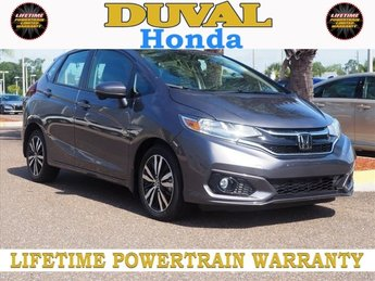 2018 Modern Steel Metallic Honda Fit EX-L 1.5L I4 Engine 4 Door FWD Hatchback Automatic (CVT)
