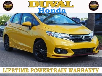 2018 Helios Yellow Pearl Honda Fit Sport Hatchback 1.5L I4 Engine Automatic (CVT)