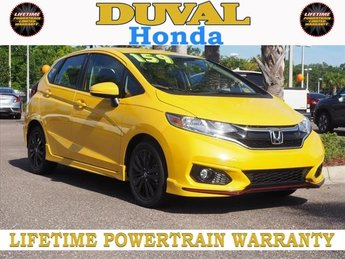 2018 Helios Yellow Pearl Honda Fit Sport 4 Door Automatic (CVT) Hatchback