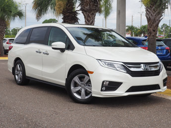 2018 Diamond White Pearl Honda Odyssey EX-L Automatic FWD 4 Door 3.5L V6 SOHC i-VTEC 24V Engine