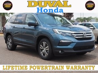 2018 Modern Steel Metallic Honda Pilot EX 4 Door Automatic SUV