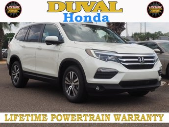 2018 White Diamond Pearl Honda Pilot EX-L 3.5L V6 24V SOHC i-VTEC Engine 4 Door Automatic