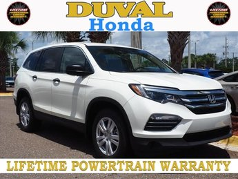 2018 White Diamond Pearl Honda Pilot LX 4 Door 3.5L V6 24V SOHC i-VTEC Engine AWD Automatic